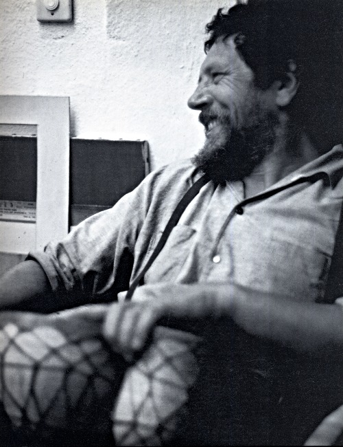 Fritz Hagl in his studio