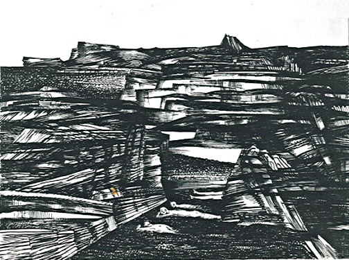 Fritz Hagl, N.T. 1964, Pen and ink, cm: 40 x 30