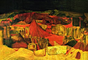 Calamita, 1970, Tempera on canvas / pressboard, cm: 110 x 75